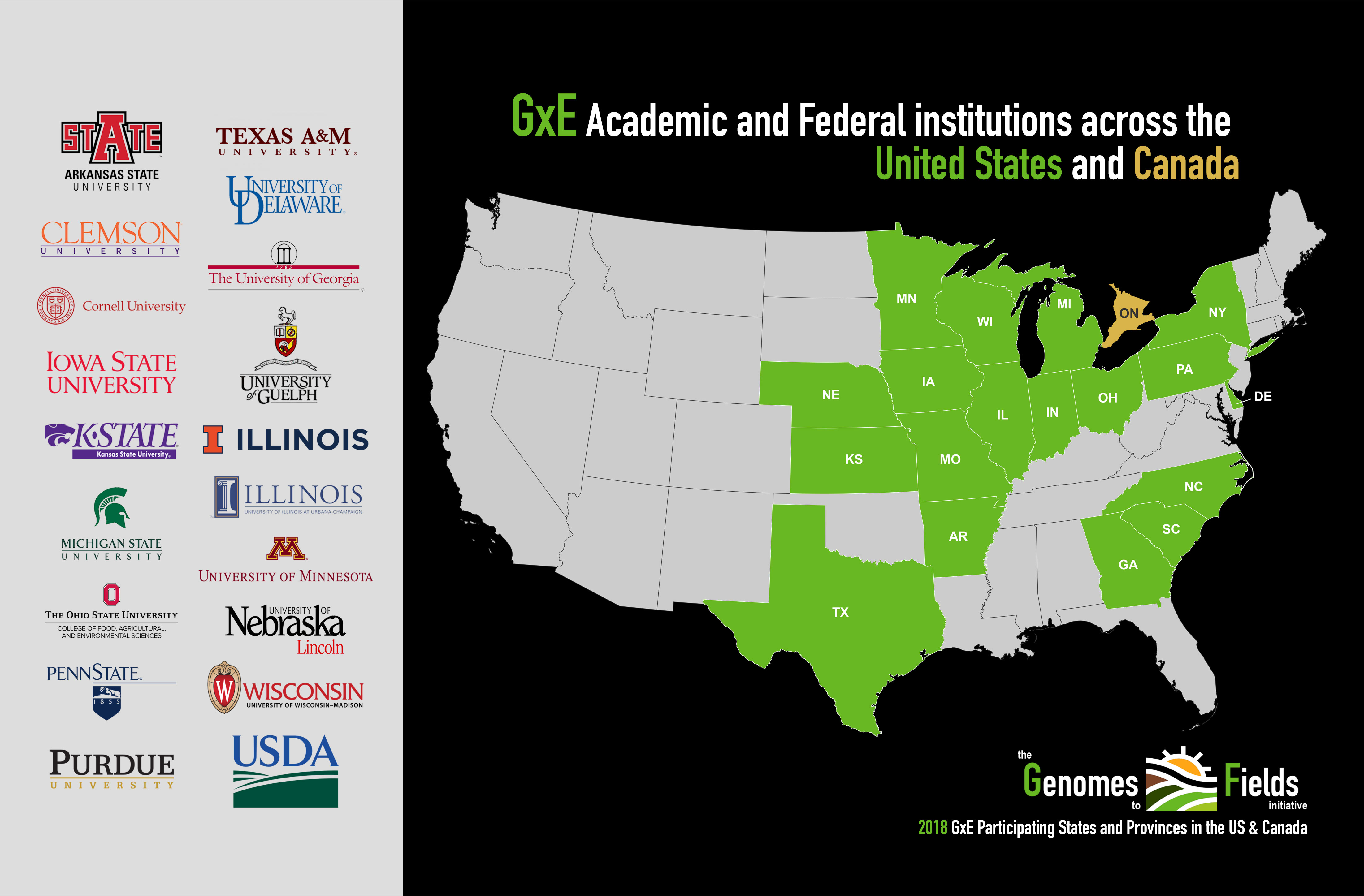 2018 Academic/Federal Institutions Map